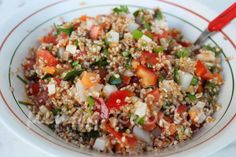 μικρή κουζίνα: Σαλάτα σπασμένου σταριού και λαχανικά