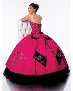 Imagenes de Vestidos de 15 rojo y negro  | Vestidos de 15: galería de vestidos rosa de tipo princesa - Estás de ...