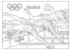 athletics collage colouring page preschool pinterest collage