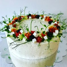 Sandwich Torte, Cafe House, Salty Cake, Tuna Salad, Savoury Cake, Food Art, Catering, Cake Decorating, Sandwiches