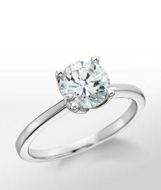 Monique Lhuillier Solitaire Engagement Ring in Platinum #BlueNile @Monique Lhuillier