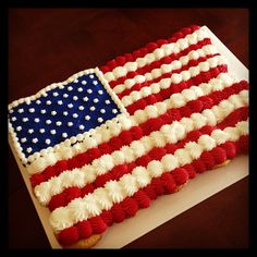 Chocolate and yellow cupcakes with butter cream frosting, flag cupcake cake www.Facebook.com/cocosugarshack