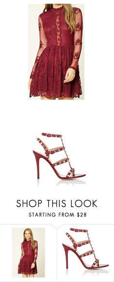 """Untitled #1069"" by laurie-egan on Polyvore featuring Forever 21 and Valentino"