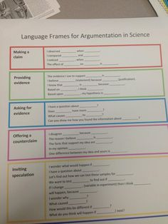 004 6th Grade English Practice Performance Tasks CER Sentence