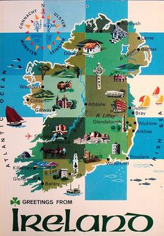 Vintage Postcard Ireland - A very popular one over around for quite some time now