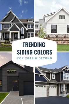Trending Siding Colors for 2019 - Diamond Kote® Building Products Best Vinyl Siding, Vinyl Siding Colors, Siding Colors For Houses, Exterior Siding Colors, Blue Siding, White Siding, Grey Siding House, House Siding Options, Painting Vinyl Siding