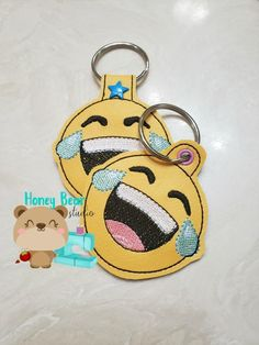 This is a DIGITAL PRODUCT meaning you will not get anything shipped to you. You must have an embroidery machine and be able to transfer files to it to use this product. Emoji Emojis Laughing Crying Mod HONEY BEAR STUDIO