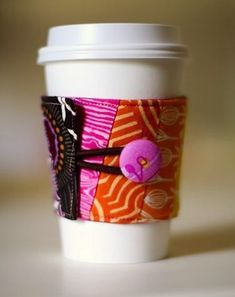 14 Ways to Make a DIY Coffee Sleeve – Page 4 – diycandy.com #CoffeeSleeves