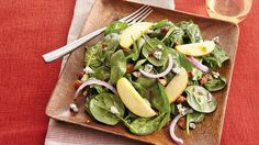 Dinner ready in 15 minutes! Add something special to your fall meal with this salad that features apple, bacon and spinach.