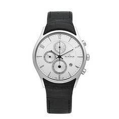 SKAGEN® Mens Mens Watches: Black & Silver Tone Steel Watch 329XLSLC