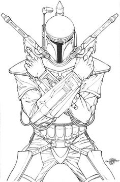 star wars jango fett coloring pages