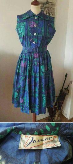 Klänning i Viola Gråstens tyg