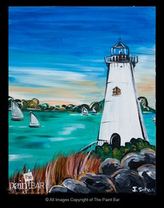 Edgartown Lighthouse Painting. I think it might be nice to have a nautical dinning room