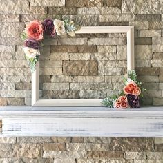 This beautiful customized x floral photo prop frame AKA selfie frame is perfect to use for any rustic style wedding, birthday party, bridal shower baby shower and more! It is made of a frame and plenty of silk flowers/greenery so its beau Cadre Photo Booth, Rustic Photo Booth, Diy Photo Booth, Home Made Photo Booth, Photo Booth Wedding, Party Photo Frame, Photo Frame Prop, Picture Frame, Baby Shower Photo Booth