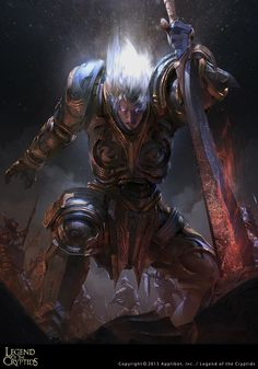 Artist: Justice Wong aka justicewong8701 - Title: Virtuous Knight Galahad adv - Card:Virtuous Knight Galahad (Dashing)