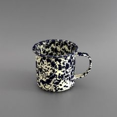 Marbled Enamel Mug Navy. Labour and Wait.