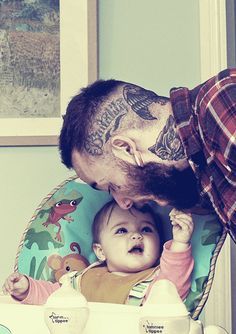 Good fathers can have ink. #rebelcircus #kid #baby #father #dad #cute #love #parent