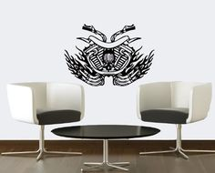 Wall Vinyl Sticker Decal Art Design the Motorcycle Motor Room Nice Picture Decor Hall Wall Chu1060 Thumbs up decals,http://www.amazon.com/dp/B00K1IUCQI/ref=cm_sw_r_pi_dp_8zIHtb0RZ8TX47S9