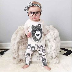 Lovely Grey Style Baby Clothes Sets //Price: $13.95 & FREE Shipping //