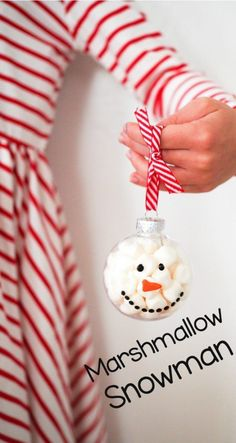 Holiday Craft for Kids: Marshmallow Snowman Click here for an easy snowman craft for kids