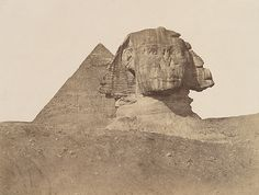 Robert Murray: Great Sphinx and the Chephren-Pyramid (from the East) 1852 Egyptian Museum (SMB)