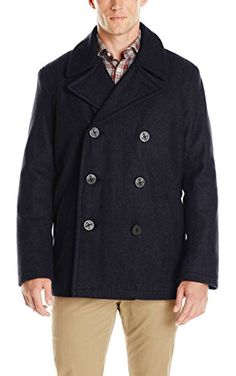 Tommy Hilfiger Men's Wool Melton Classic Peacoat, Navy, XX-Large ❤ Tommy Hilfiger Men's Outerwear