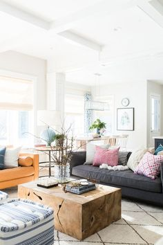 Our client just bought a brand new home and came to us to help furnish and decorate the master bedroom, dining, and living room. Years ago, she was all about dark, heavy furniture. With a new home, sh