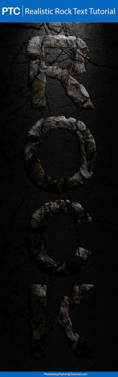 Realistic Rock Text Effect In Photoshop