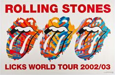 famous rock concert posters | ... the Rolling Stones: Posters and Flyers Designed by John Pasche & More