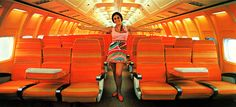"Lawrence hired Emilio Pucci to design uniforms for flight and ground crews. His first line for Braniff debuted in 1965 and was appropriately called ""Gemini ..."