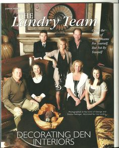 Living Magazine 2010 cover story photo. The Landry Team has been a Business with Decorating Den Interiors over for 15 years.  Since then the Landry team has won many awards and been featured in several different magazines over the years.