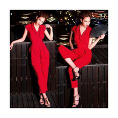 3a3822be9d7 Electronics ❤ liked on Polyvore Capri Jumpsuit