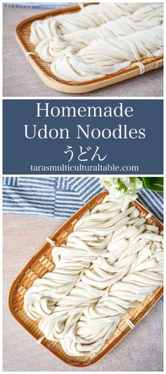 Homemade Udon Noodles and Los Angeles: South Coast Botanic Garden - Tara's Multicultural Table- These thick and springy Japanese noodles come together with only flour and salt water with no specialty equipment needed.