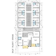 """53 Likes, 1 Comments - @idedenahrumah on Instagram: """"Kost + rumah tinggal 2 lantai - tahap pengembangan lt atas. Kali ini ada denah tempat kost dan…"""""""