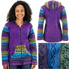 Butterfly Bliss Hooded Jacket. Preserves 2 acres of Rainforest!! Every Purchase Funds the Protection of Vital Habitat