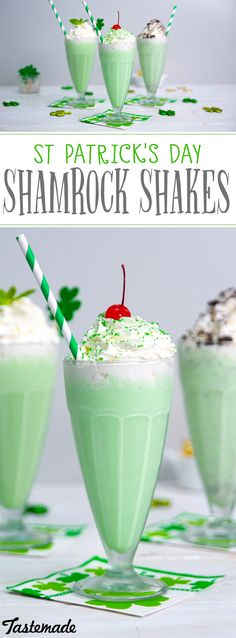After a sip of one of these 3 green milkshakes, you'll feel a lot luckier. 3 festive milkshakes for St Patricks day, each as delicious as the last.