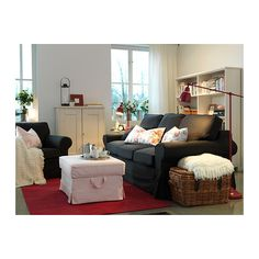 BAROMETER Floor/reading lamp - red - IKEA...ottoman as coffee table