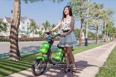 Giới thiệu xe đạp điện Nijia Plus 2017 màu xanh non