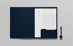 """Nice pocket style emboss detail on this pocket folder - a great way to update update branding on a more traditional client. Here keeping the 'corporate"""" blue color - our paper pick is Classic Crest Patriot Blue."""