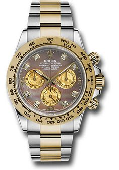 Rolex Yellow Rolesor Cosmograph Daytona 40 Watch - Dark Mother-Of-Pearl Gold Crystal Subdials DialRolex Style No: 116503 bkmd Oyster Perpetual Cosmograph Daytona, Rolex Oyster Perpetual, 3 O Clock, Rolex Daytona, Patek Philippe, Oysters, Gold Watch, Chronograph, Rolex Watches