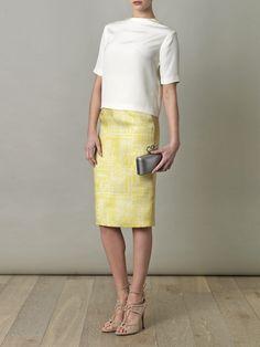 Emilia Wickstead: Margerita pencil skirt