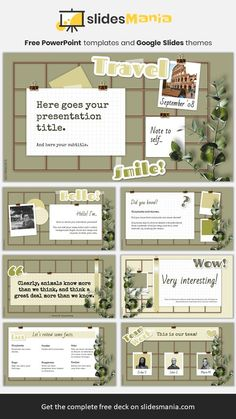 Vision board and mood board template.