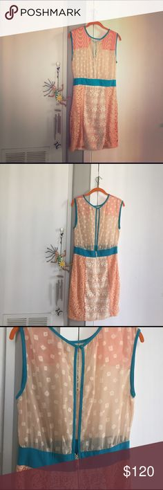 "✂️price cut✂️Anthropology Champagne&Strawberries 👌👌👌👌 lengthlen35 ""waist 14.5"" Anthropologie Dresses Mini"