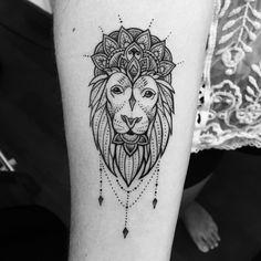 Lion mandala tattoo