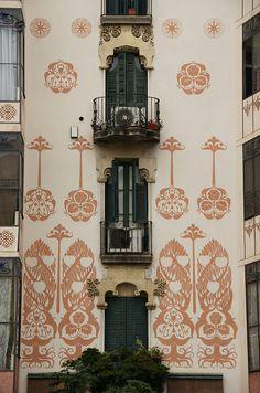 Barcelona - Carrer de València, Catalonia. Modernisme