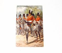 Scottish Military Postcard by Raphael Tuck Royal Scots Greys - Vintage Items for Sale - The Vintage Village