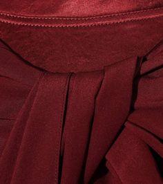 Burgundy silk top