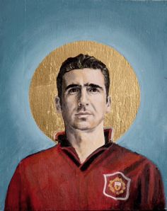 Football Icon - Eric Cantona by David Diehl as Poster Legends Football, Football Icon, Football Art, Manchester United Legends, Manchester United Football, Sports Art, Sports Logo, Sports Posters, David Diehl
