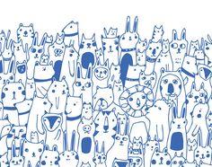 Hello Friends Lisa Congdon Print by lisacongdon on Etsy