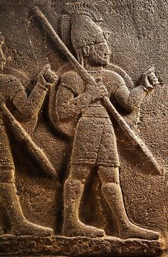 Image of 3 Soldiers Neo-Hittite orthostat from Karkamis, | Photos Gallery